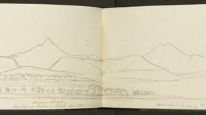 Wicklow Hills a little further on dated August 5, 1849. Pencil, pen and ink.