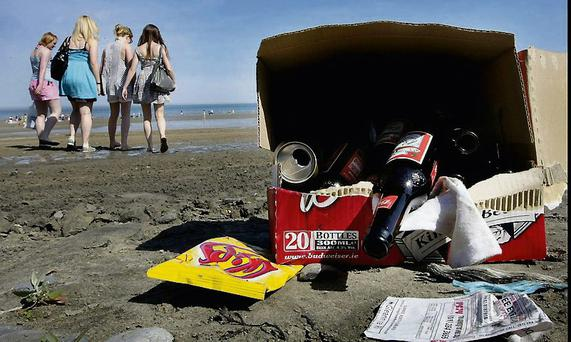 An example of rubbish left on our beaches.
