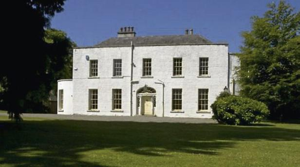 The Georgian house up for sale.