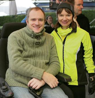 Martin Codyre and Ilona before the run in Bray.