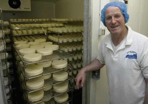 John Hempenstall of Wicklow Farmhouse cheese at one of the cold rooms