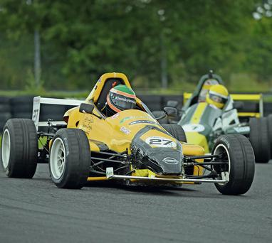 Wicklow driver Seán Doyle back in a Wicklow-built car for the Formula Vee Festival in aid of Laura Lynn Foundation.