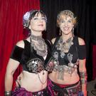 Mary Bushe and Deirdre Fitzgerald, Zoryanna belly dancers at the Space Inside Live night at Wicklow sailing club