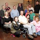 The cast and crew in rehearsals for 'The Death of Humpty Dumpty' by Graham Reid which will be presented in the Grand Hotel