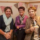 Amanda Byrne, Angela O'Neill and Ann Marie O'Sullivan at the breast cancer awareness pink party in Arklow cancer support centre