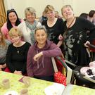 At the Lee Timmons Coffee Day at the Parish Centre Roundwood: Front: Jackie Flynn, Ann Brady, Sinead Moody and five-week-old Eiley Moody. Back: Ellen Byrne, Mary Coleman, Kathleen and Nancy Rafter