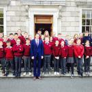 Local pupils toured the Dáil and Seanad