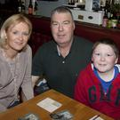 Sandra, Robert and Alex Dunne at the Wicklow ladies rugby club table quiz