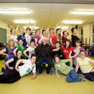 Fr Donall Roche PP with some of the cast of MYTH who are rehearsing for their upcoming show on 21st, 22nd, 23rd March to raise funds for the renovation of St Patrick's Church Wicklow following its recent fire damage