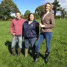 Ear to the Ground presenter Helen Carroll with Leonie Byrne and her husband Stephen