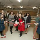 Catherine Fulvio at the opening of the new home economics kitchen in the Dominican college, Wicklow