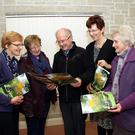The committee, Sister Eileen, Reni Wall, Fr. Tommy Dillon, Mary Hanlon and Bernie Doogue at the Review Launch and presentation of Art Prize in the Parish Centre, Baltinglass. Photo Joe Byrne