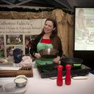 Catherine Fulvio at a cookery demonstration in the Woodenbridge hotel