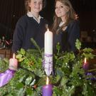 Aimee Cahill and Skye Norton at the Dominican College Christmas Carols concert in Fatima Hall