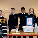 Eve Stokes, Charlie Doherty, Darcy Phelan, Nina Braswell and Benjy Billington who are Team Lungs from Wicklow Montessori Primary School