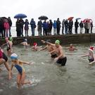 Making a splash at the Wicklow swimming club annual St Stephen's day swim