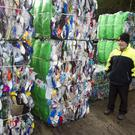 Manager Myles Doyle recycling in full swing following the Christmas holidays at Avoca recycling centre