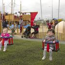 Leah Dargan and Lilly Rose Kavanagh at the opening of the Murrough Pirate playground, Wicklow