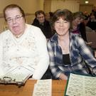 Mary Hamilton and Angela Killeen at the Glenealy GAA development fund bingo in Glenealy Hall