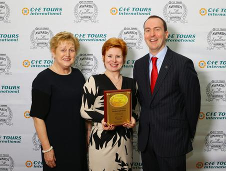 Freida O'Connell, Audrey McCreery and Stephen Cotter, Russborough House, with the CIE Tours International Award