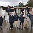Festina Lente: Amy, Rose, Carla, Jane, Brian, Mary, Molly, Jeff and Niamh in the Yard