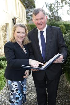 Sharon Foley, CEO of the Irish Hospice Foundation, with Dr Brendan Cuddihy, Chairman of Wicklow Hospice Foundation