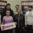 'Grease': Nicola Toner, Conor Devlin, Connor Dooley, front, Ciara Finan, Caroline Behan and Daragh Kenny taking part in The Broadway Challenge in aid of the Mater Hospital Organ Transplant Unit