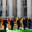 RNLI crews outside the GPO in Dublin