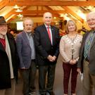 Kilcoole Lecture on Robert Monteith of the Rising with his grandson Charles Cushing at Druids Heath Golf Course: Professor Noel Mulcahy, Gregori Meakin, Charles Cushing, Cllr Grainne McLaughlin Mayor of Greystones, Canon Robert Jennings