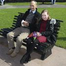 Robert and Megan Dobson at the Good Friday Arklow churches together service in the park, Main street, Arklow