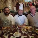 The late Jonathan 'Johnny' Doyle with Mystic Celt chef Paul Smith and Philip Wheatley