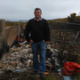 Cllr John Snell at the illegal dump at Broomhall