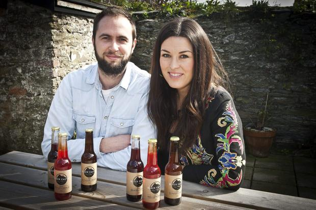 John McGee and Riva O'Mallet of Black Castle Drinks