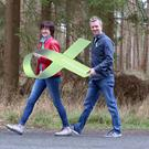 Farm Family chairperson Maura Canning and Mike Denver launch Green Ribbon Let's Talk and Walk