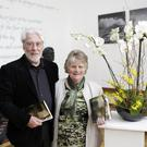 Launch of Nora Fleming's latest book 'Threads of Silence' at the Ashford Community and Heritage Centre: Martin Swords who launched the book with Nora