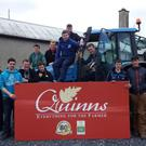 Students from Scoil Chonglais who completed the farm safety course