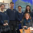 Students from Colaiste Bhride Carnew with author Claire Keegan, whose novel 'Foster' they are studying as part of their comparative literature module for the Leaving Certificate
