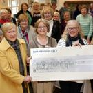 Ashford ICA present a cheque for €2,200 to Wicklow Meals on Wheels at Ashford Community and Heritage. Pictured (centre): Susan Kay and Margaret Stephenson, President, presenting to Rose Behan and Marie Morrisson from Meals on Wheels