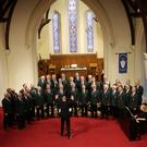 Wicklow Male Voice Choir perform led by their musical director Anthony Norton at St Patrick's Church Greystones in aid of St Catherine's