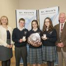 Catherine Burke, MJ Moran, Niamh Clarke, Augoste Zaveckyte and Richard Burke at St. Kevin's Community College, Dunlavin 'Excellence Awards 2016'. Photo Joe Byrne