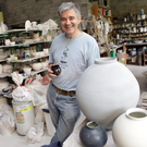 Geoffrey Healy at his pottery studio in Kilmacanogue