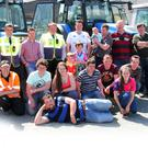 Some of those who attended the tractor run in Carnew