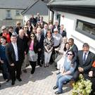 Wicklow County Council staff, public representatives and Tuath Housing staff with the residents at the opening of La Touche Court