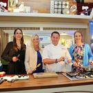Christine O'Connor, Elaine Noble and Lynn Armstrong, from the Parent Association, with chef Neven Maguire
