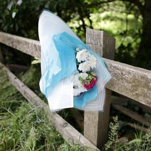 Flowers at the scene of the crash near Annamoe on Saturday morning