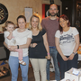 Bella and Emma Cahill, Ruth, Ian and Jenny Byrne at the Lilly of the valley day care centre coffee morning in Whistler's, Wicklow