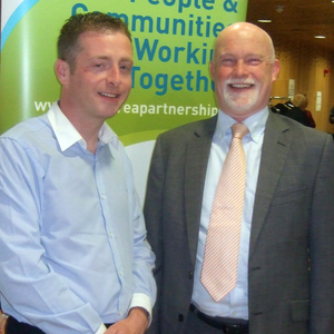 Local businessmen Ian Kiely and Padraic Donnelly at the ILDN National Enterprise Awards