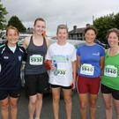 Martina O'Kearney, Aoife McGrath, Gayle Carter, Hilary Jenkinson, Holly Hunt at the Parnell AC Road Race and Relay Race 2016