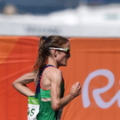 Fionnuala McCormack competes during the Women's Marathon during the 2016 Rio Summer Olympic Games in Rio de Janeiro, Brazil