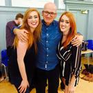 Leah and Amy Penston with Roddy Doyle